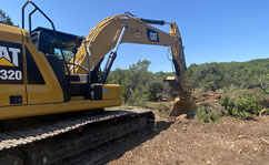 bulldozer brush hog clearing austin