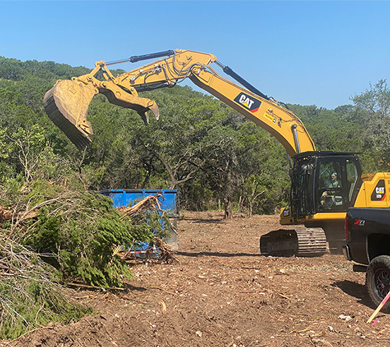 bulldozer clearing land austin